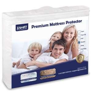 5. ZAMAT Premium Waterproof Mattress Protector (Queen)