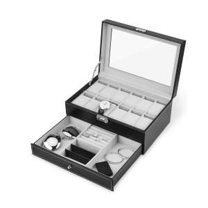 JS NOVA JUNS Watch Box w/Jewelry Drawer