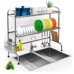 iBesi Over Sink Dish Drying Rack
