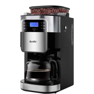 Barsetto 5-Cups Coffee Makers with Inbuilt Burr Coffee Grinder