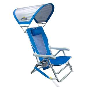 GCI Portable Backpack Beach Chair with Sunshade