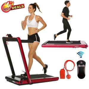 8. Miageek 2 in 1 Folding Treadmill with Remote Controller & Bluetooth Speaker