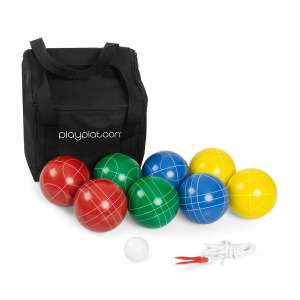 Play Platoon Bocce Ball Set Game w/Case