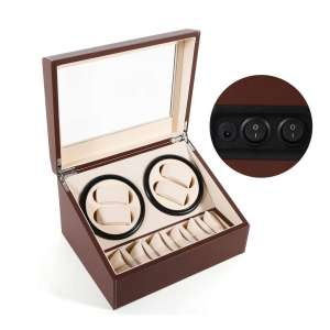 SHZICMY Automatic Watch Winder Box (Brown)