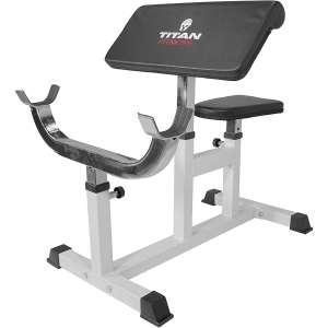 Titan Preacher Curl Station Strength Training Bench Fitness Equipment