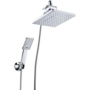 BRIGHT SHOWERS Rain Shower head (8 Inch Square, Chrome)