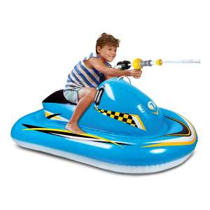 Discovery Kids Inflatable Pool Float with an Integrated Water Blaster