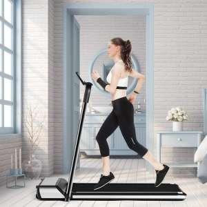 9. Goplus Ultra-Thin Folding Treadmill, Low Noise