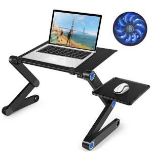 MIGO Laptop Table Adjustable Bed Table Portable Laptop Table