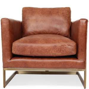 Edloe Finch Gustaaf Modern Leather Accent Chair