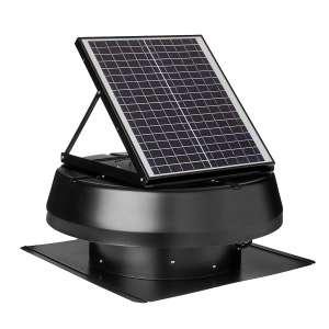 iLIVING Smart Solar Roof Attic Fan, Black