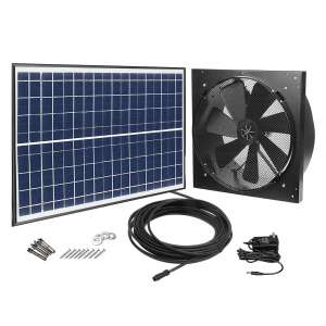 GBGS Solar-Powered Exhaust Fan, Adjustable Solar Panel