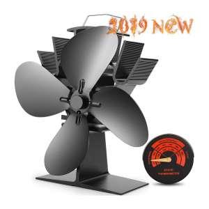 CWLAKON Heat-Powered Stove Fan, Efficient Heat Distribution