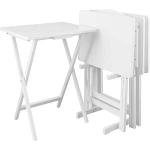 Casual Home 5-Pieces White Tray Table