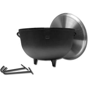 King Kooker 10-Gallon Heavy-Duty Cast Iron Pot