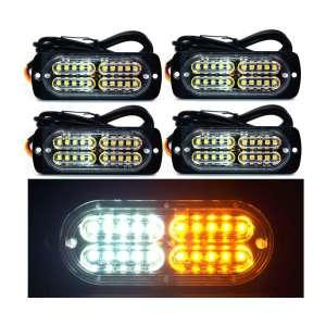 Ease2U 20-LED Super Bright Emergency Waterproof Amber Lights