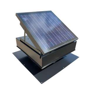 Remington Solar Attic Fan with Bonus Thermostat, Black