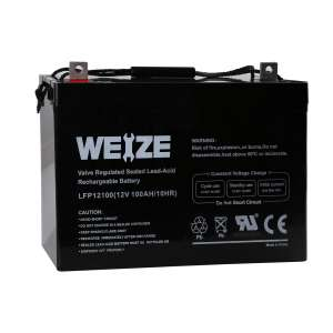 Weize 12V 100AH AGM SLA VRLA Deep Cycle Trolling Motor Battery
