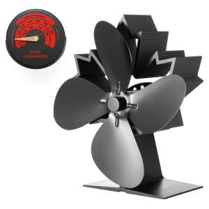 CRSURE 4-Blade Wood Stove Fan, Eco Friendly