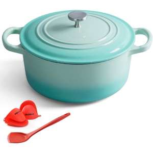 ClearSea 4.5-Quartz Enameled Dutch Oven Cast Iron Pot