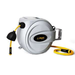 Power Products USA Retractable Hose Reel - Wall Mounted