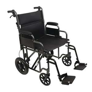"ProBasics Heavy-Duty 22"" Transport Wheelchair"