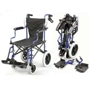 Elite Care Lightweight Transport Wheelchair, Height-Adjustable footrests
