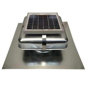Solar Blaster Solar Attic Fan with Galvanized Vent