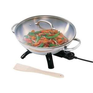 Supernon Stainless Steel Electric Wok
