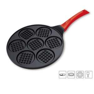 TAOKEY Nonstick Pancake Pan w/ Seven Flapjack Faces (Red)