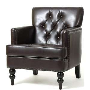 Christopher Knight Home Tufted Club Leather Accent Chair