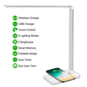 AFROG Multi-functional LED Desk Lamp with Wireless Charger