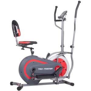 Body Power 3-in-1 Machine Recumbent Bike, Elliptical and Upright Bike