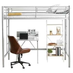 Costzon Loft Twin Bed, Single Bunk Bed
