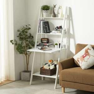 Itaar 4-Tier Ladder Shelf Bookcase