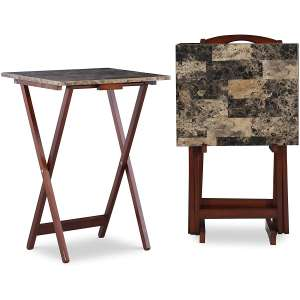 Linon Home Décor Tray Table Set