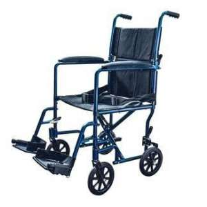 Medical Team Supply Transport Lightweight Wheelchair (Blue)
