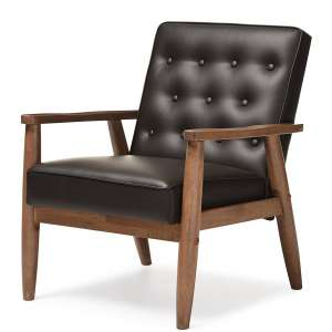 Baxton Studio Sorrento Retro Modern Faux Leather Accent Chair
