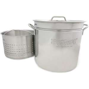 Bayou Classic Stainless Stock Pot with Basket