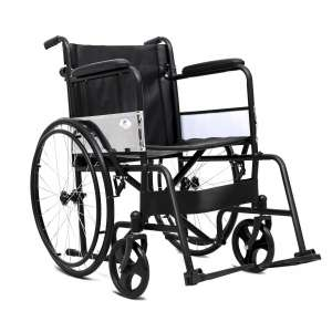 Giantex Transport Wheelchair with Footrest Handbrakes, Black