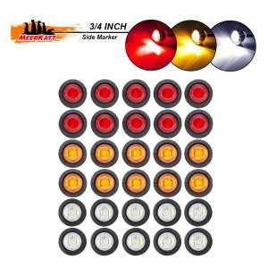 Meerkatt 30 Pieces ¾ Inches Round Mini Mount Amber Lights