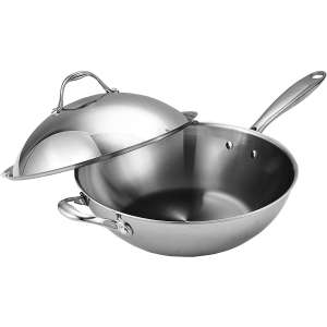 Cook Standard Stainless Steel 13 Inches Wok with Dome Lid