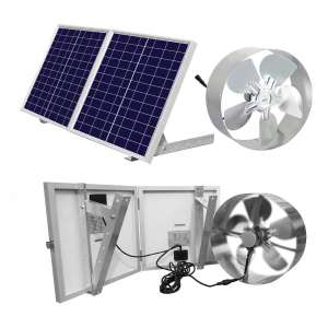 ECO-WORTHY Solar-Powered Attic Fan with Foldable Solar Panel