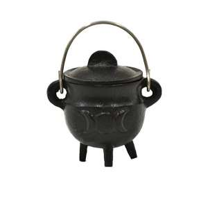Sage Triple Moon Cauldron Cast Iron