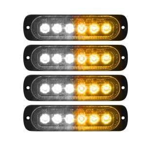 VKGAT 4 Pieces Sync 6 LED Car Truck Amber Lights
