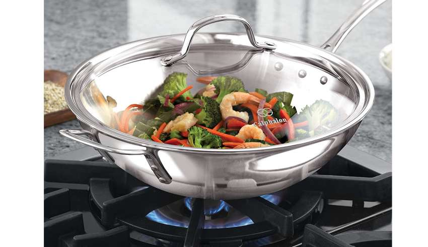 Demeyere Industry 5-Ply 5-Quartz Stainless Steel Wok