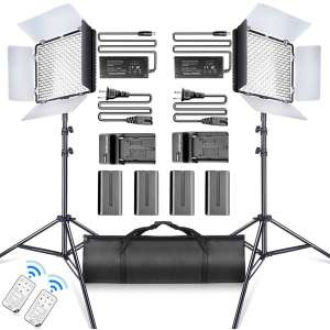 SAMTIAN LED Video Light for Studio Photography and Video