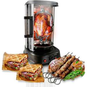 NutriChef Countertop Rotisserie Shawarma Vertical Rotating Oven