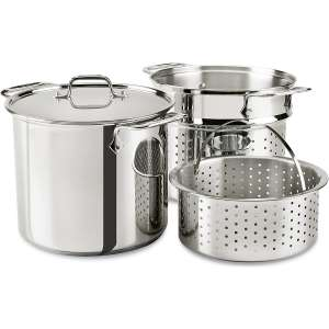 All-Clad E9078064 Stainless Steel Multicooker Pasta Pot