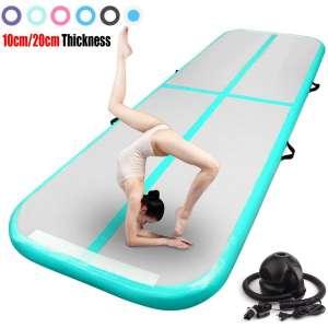 FBSPORT Inflatable Gymnastics Air Mat with Pump